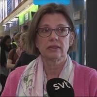 Pia Carlström Nordlander skulle resa till Frankrike, men fastnade på Arlanda på grund av strejken.