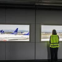 Inställda flyg på Gardemoen i Norge.