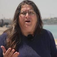 Neta Golan är en av aktivisterna som spelade död inne på Eurovision-området.