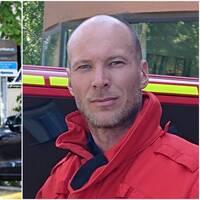 Samuel Andersson, brandingenjör, hade rollen som räddningsledare under insatsen i Linköping