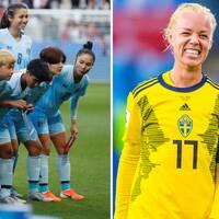 Sveriges landslag är längre än Thailands – det ska utnyttjas på fasta situationer, hoppas lagkaptenen Caroline Seger.