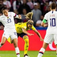 USA leder med 2-0 mot Sverige.