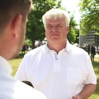 Mitt i Almedalen: Michael Arthursson (C), partisekreterare och Naod Habtemichael, förbundsordförande Centerstudenter
