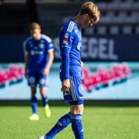 Eric Björkander deppar efter matchen mot Örebro
