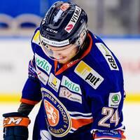 Växjös Brendan Shinnimin deppar under ishockeymatchen i SHL mellan Växjö och Skellefteå den 21 september 2019 i Växjö.