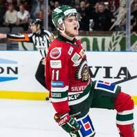 Samuel Fagemo jublar efter sitt andra mål mot Luleå.