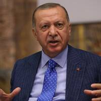 Sveriges utrikesminister Ann Linde (S) och Turkiets president Erdogan
