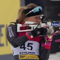 Ingela Andersson skrällde rejält i skidskyttepremiären i Norge.