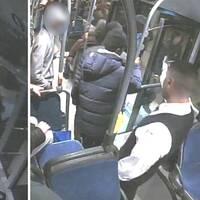 Misshandeln fångades av bussens övervakningskameror.
