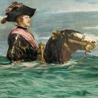 Velásquez målning Felipe till häst har hamnat under vatten och den omgjorda Goyamålningen sätter fingret på framtida klimatflyktingars situation.