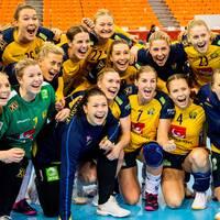Svenskt jubel efter VM-avancemanget.