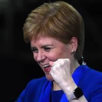 SNP:s ledare Nicola Sturgeon som också är Skottlands ledare.