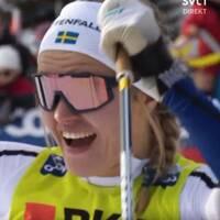 Linn Svahn skrällvann sprintfinalen i Davos.