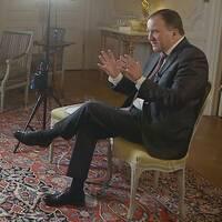 """Mats Knutson intervjuar statsminister Stefan Löfven (S) i programserien """"Mats möter"""""""