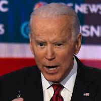 Joe Biden under demokraternas debatt i Las Vegas