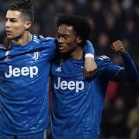 Aaron Ramsey, Cristiano Ronaldo och Juan Cuadrado fick fira ett Serie A-rekord och en Juventus-seger i kväll.