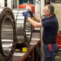 Industriarbetare på SKF