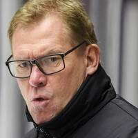Malmös Johan Olofsson och klubbens vd Patrik Sylvegård.