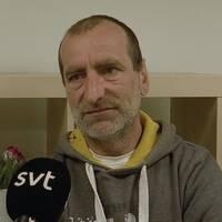 På bilden syns Nicolae Meres, en av Malmlös hemlösa som besöker Crossroads stödcenter ofta.