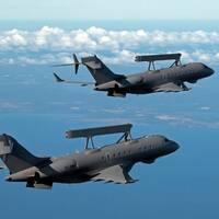 Saabs övervakningsflygplan Global Eye med kapacitet för radar- och signalspaning.