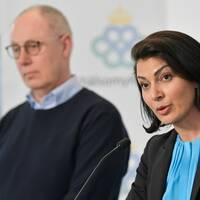 Thomas Lindén, avdelningschef, Socialstyrelsen och Taha Alexandersson, ställföreträdande krisberedskapschef, Socialstyrelsen.
