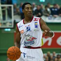 Basketlegendaren Scottie Pippen under tiden i Sundsvall Dragons 2008. Arkivbild.