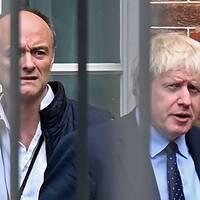 Brittiske premiärmninstern Boris Johnson och hans topprådgivare Dominic Cummings