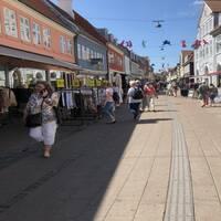 Shoppinggatan Stengade i Helsingör, Danmark