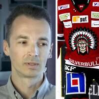 Adam Cwejman, politisk redaktör på Göteborgs-Posten, diskuterade frågan om Frölunda Indians logga tillsammans med kulturjournalisten Nathan Hamelberg i SVT:s Morgonstudion.
