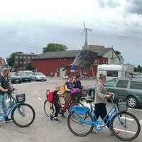Turister som har hyrt cyklar i Blekinge