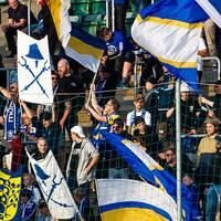 Sundsvalls supportrarna under fotbollsmatchen i Allsvenskan mellan GIF Sundsvall och Elfsborg den 26 augusti 2019 i Sundsvall.