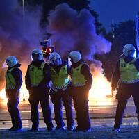 Poliser i Rosengård.