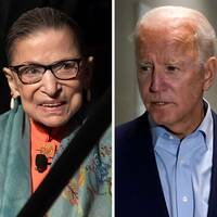Både president Donald Trump och demokraternas Joe Biden hyllar Ginsburg