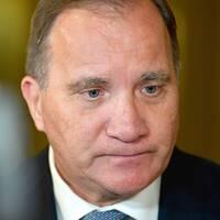 Statsminister Stefan Löfven (S) och V-ledaren Jonas Sjöstedt