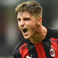 Lorenzo Colombo gjorde Milans andra mål.