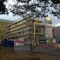 byggplats vid Centralskolan i Arvika