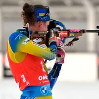 Hanna Öberg blev trea i masstarten i Oberhof.