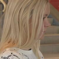 Linda Ortfeldt är en av studenterna inom folkhälsovetenskap.