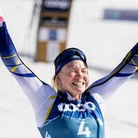 Jonna Sundling vann VM-guld i sprint i tyska Oberstdorf.