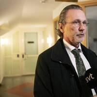 Advokat Thomas Olsson intervjuas i Stockholm vid ett tidigare tillfälle.