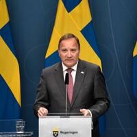 Statsminister Stefan Löfven har pressträff.