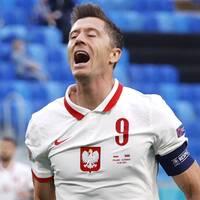Polens Robert Lewandowski gick mållös från premiärmatchen mot Slovakien.