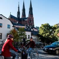 Vy över Uppsala domkyrka