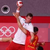 Norge mötte Spanien i den olympiska handbollsturneringen.