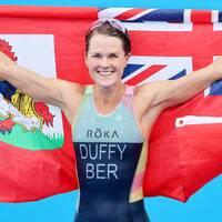 Flora Duffy blev Bermudas första OS-guldmedaljör.