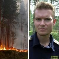 Johan Wickenberg, stf Räddningschef Jämtland, Skogsbrand vid Kårböle strax utanför Ljusdal, Johan Szymanski, vakthavande brandingenjör i Stockholms brandförsvar.
