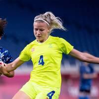 Hanna Glas, Nathalie Björn och Stina Blackstenius.