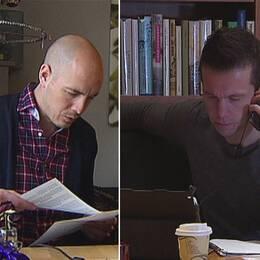 Reportrarna Nicke Nordmark och Hasse Johansson.