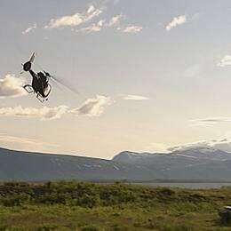 helikopter söker försvunna i Ritsemfjällen