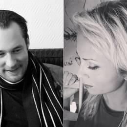 Till vänster Anders Göthberg, tidigare gitarrist i Broder Daniel. Till höger Paola Bruna.